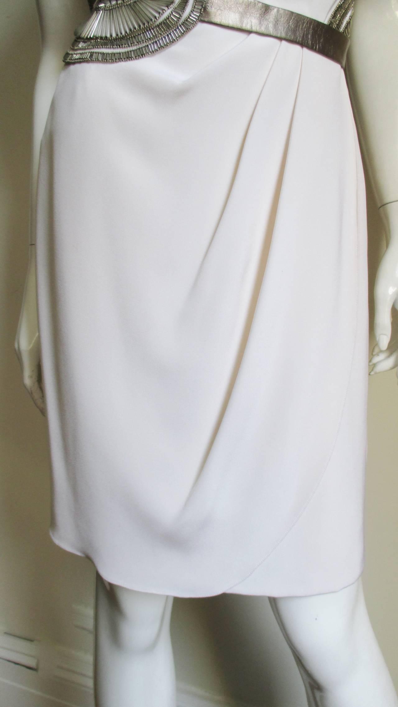 1990s Bill Blass Silk Dress With Elaborate Beading 5