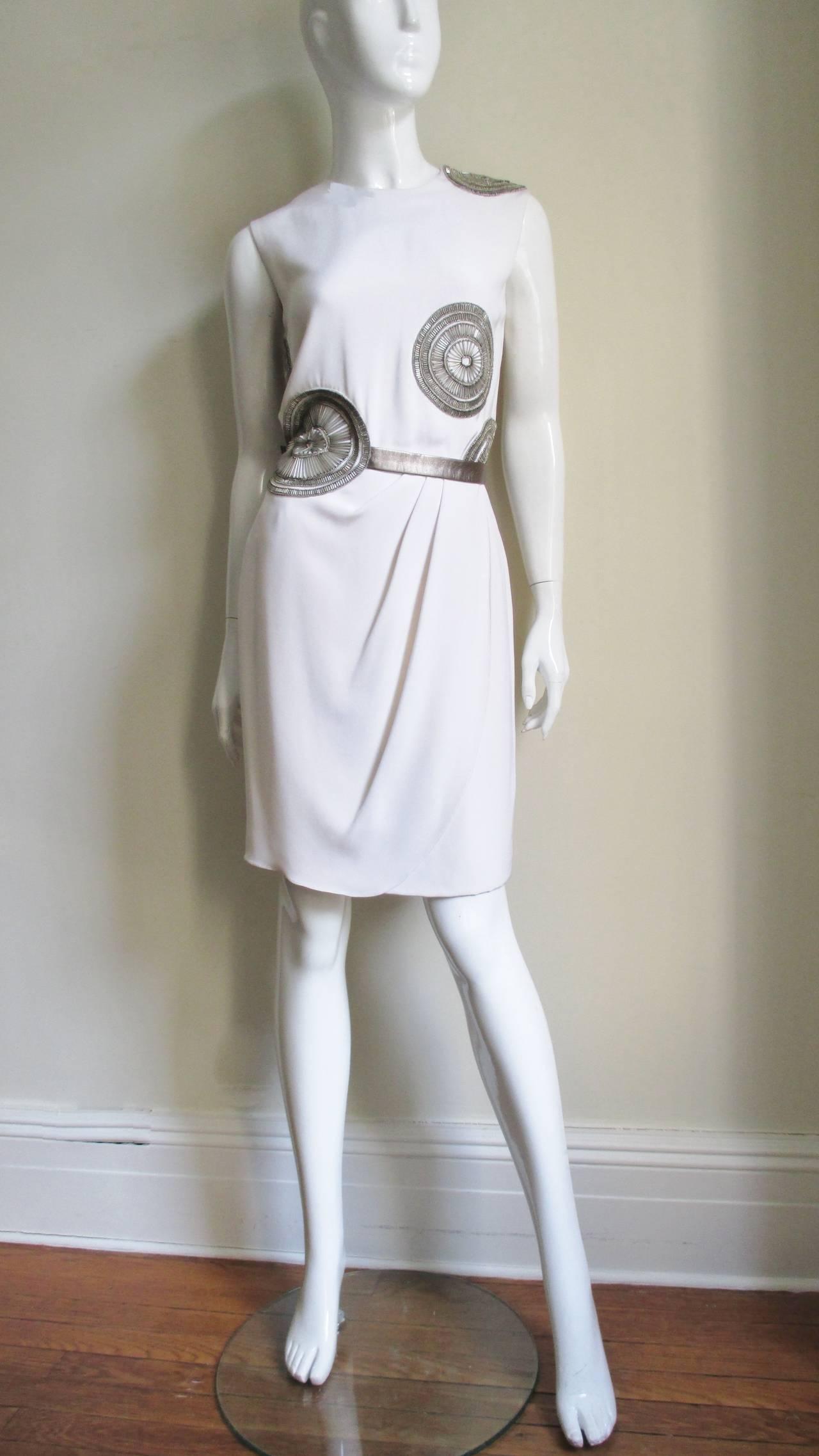 1990s Bill Blass Silk Dress With Elaborate Beading 6