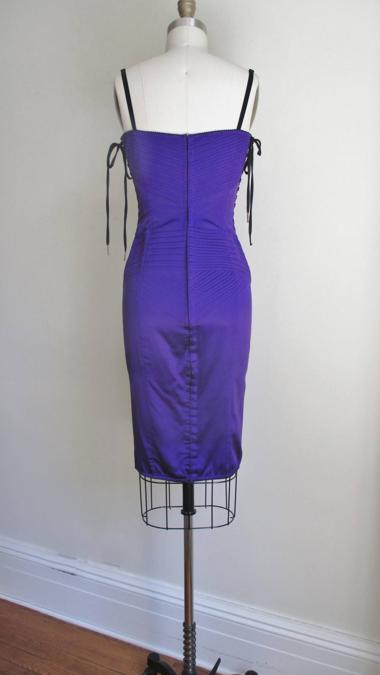 Dolce & Gabbana Corset Dress With Side Lacing 9