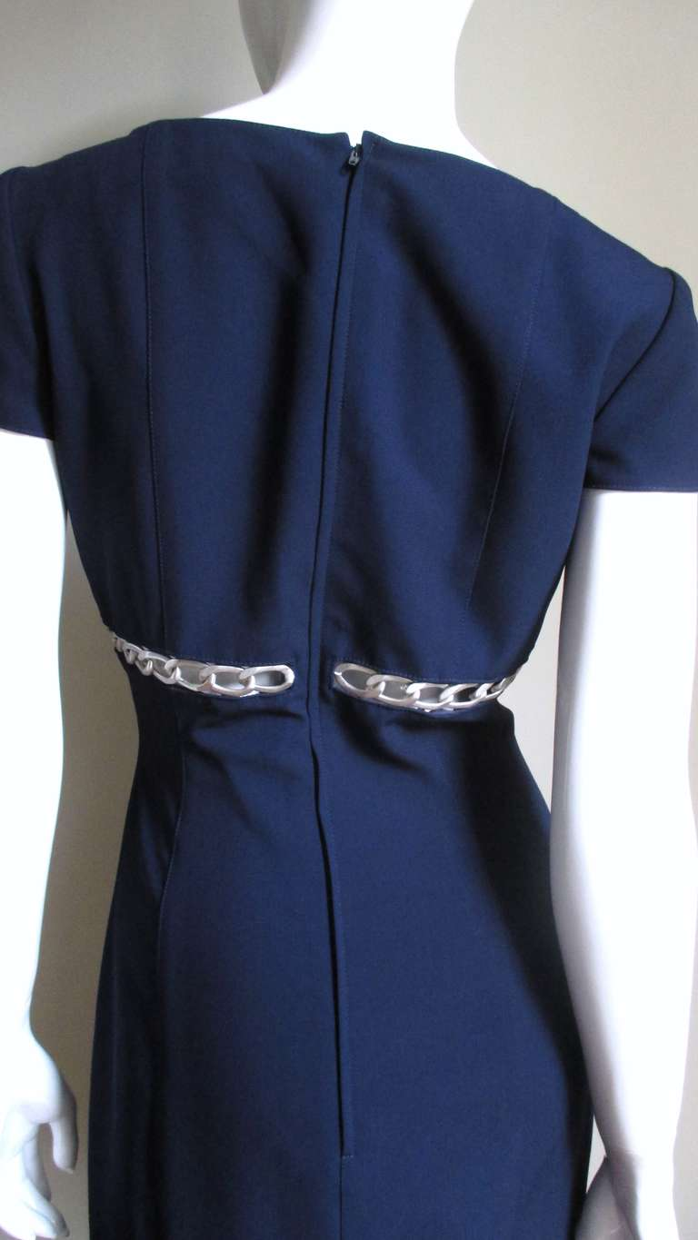 1990s Thierry Mugler Chain Detail Dress For Sale 2