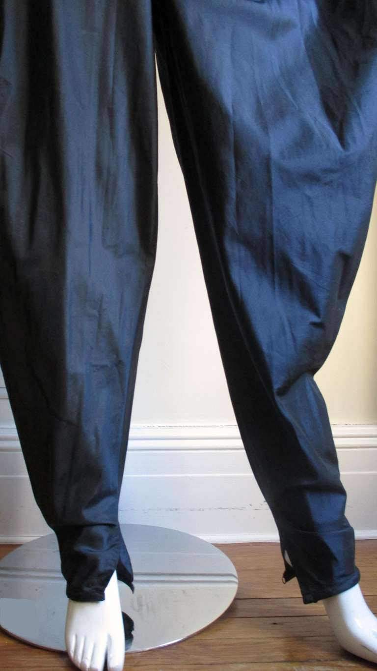 Dramatic 1980's Gianni Versace Silk Pants 5