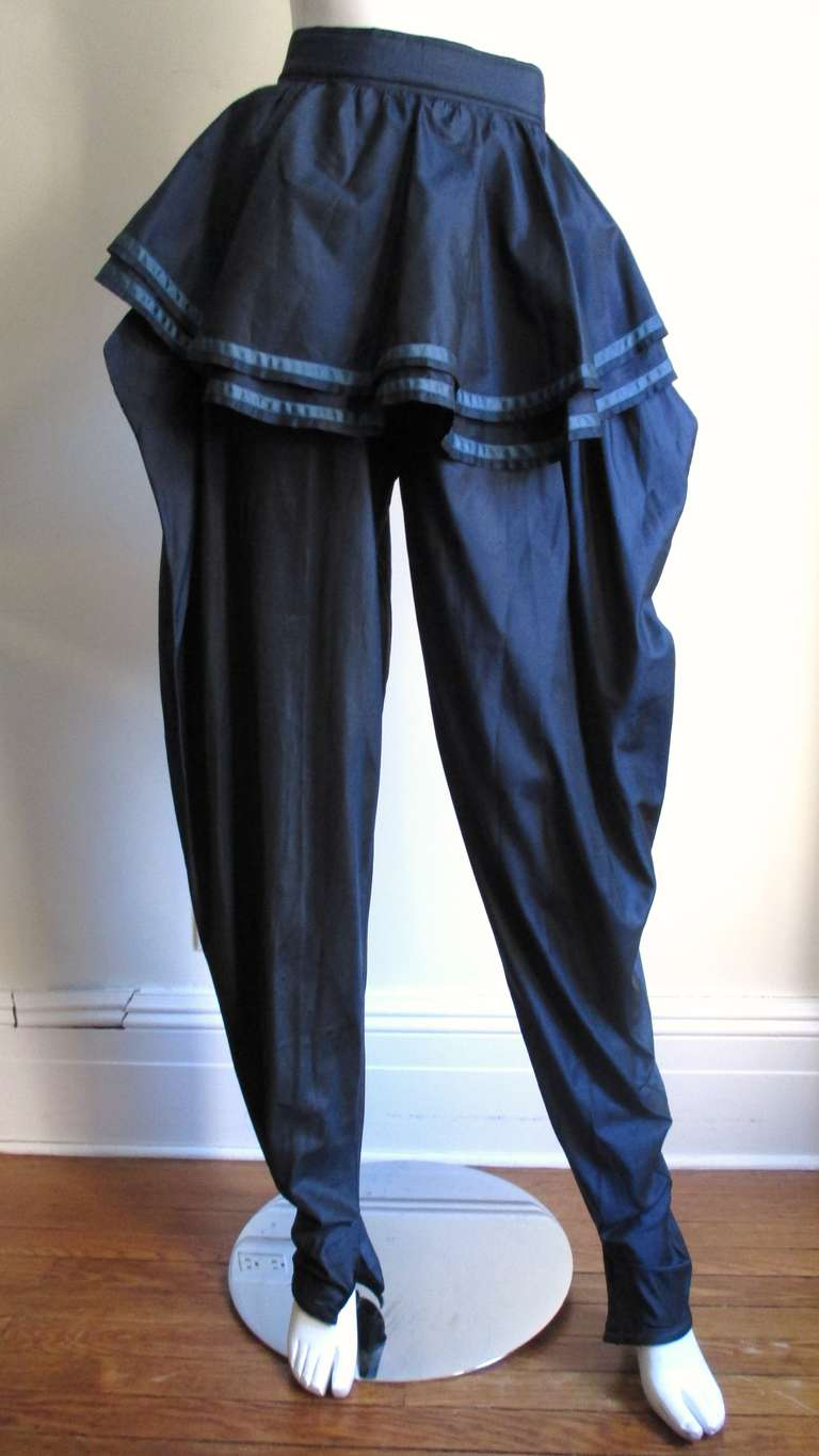 Dramatic 1980's Gianni Versace Silk Pants 2