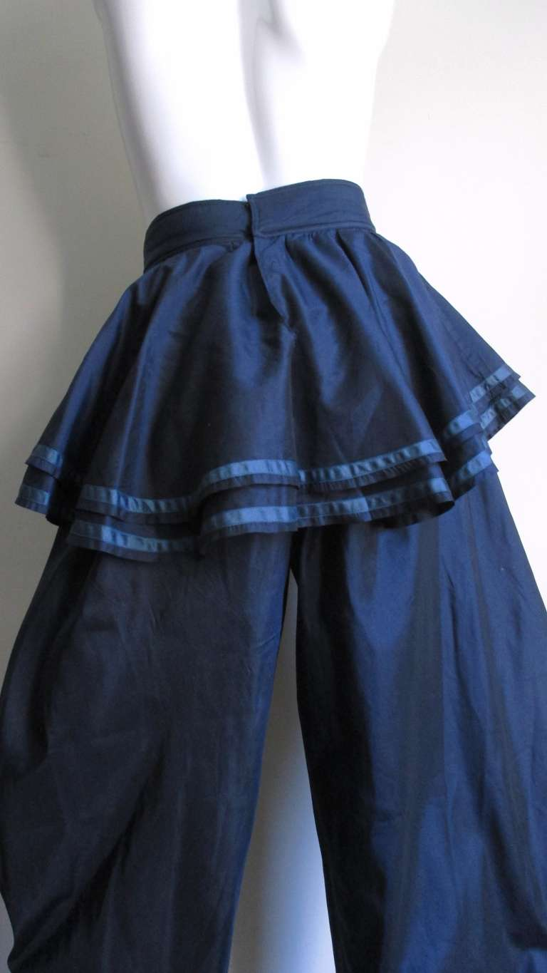 Dramatic 1980's Gianni Versace Silk Pants 6