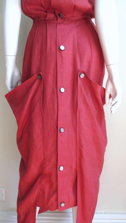 vintage beretta linen slouch dress at 1stdibs