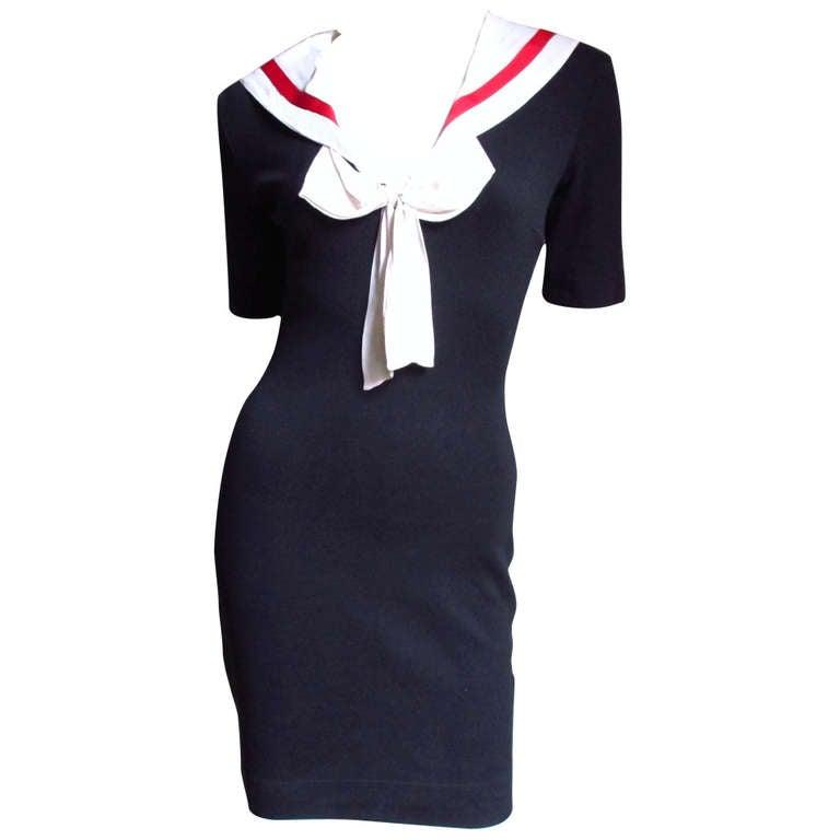 Moschino Vintage Sailor Dress at 1stdibs
