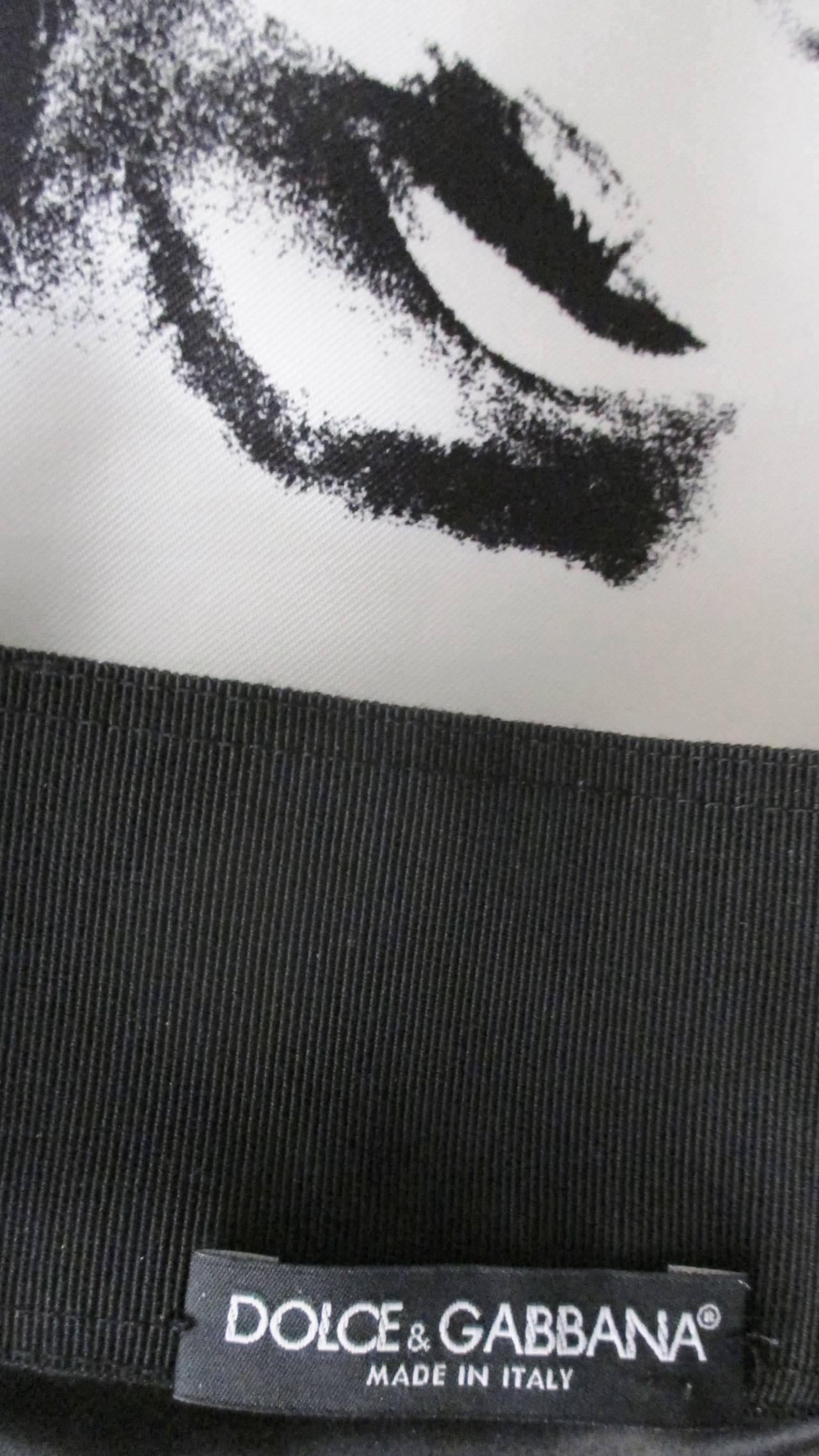 Iconic Marilyn Monroe Dolce & Gabbana Screen Print Skirt 10