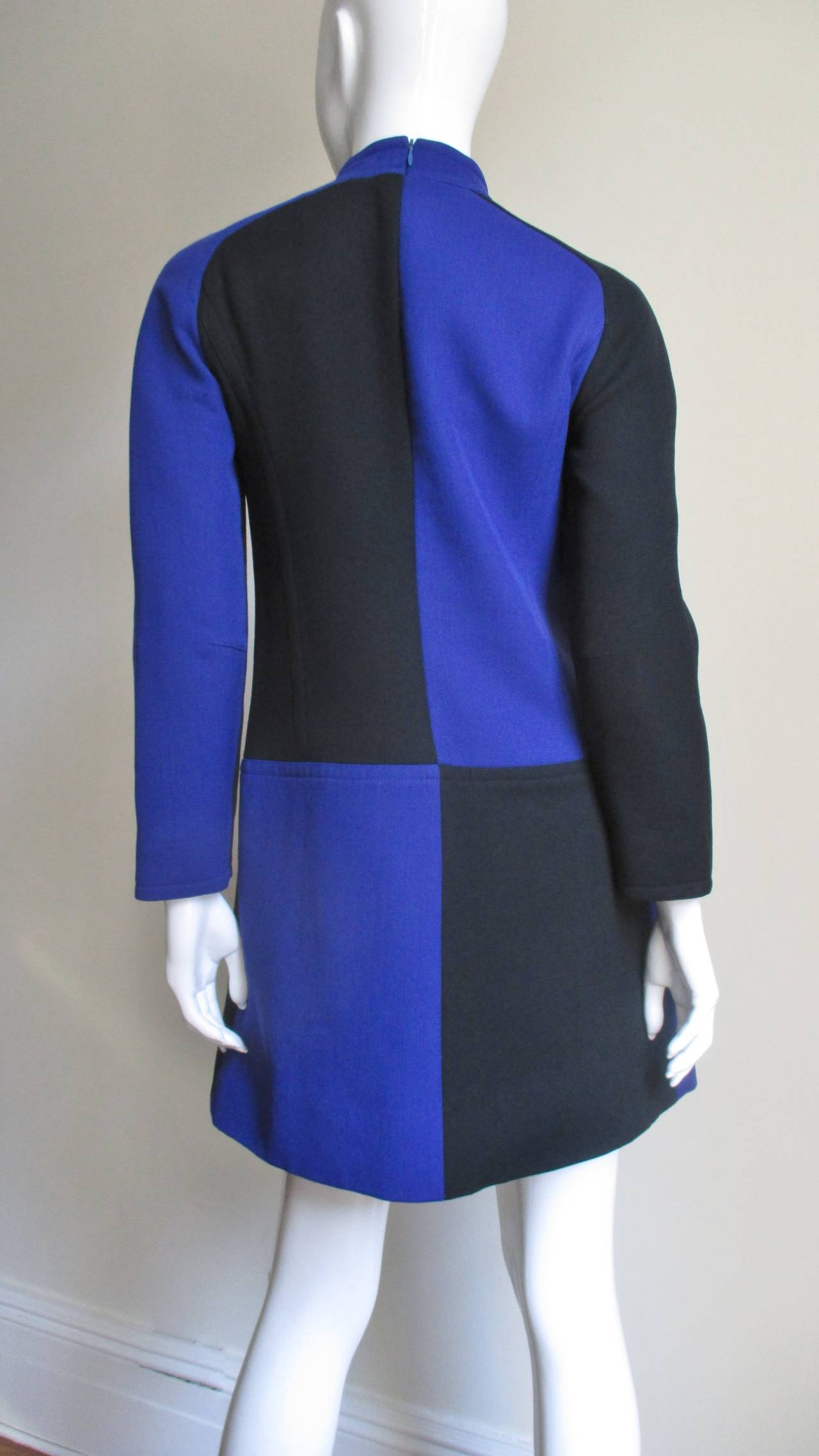 Vintage Courreges Color Block Dress 8
