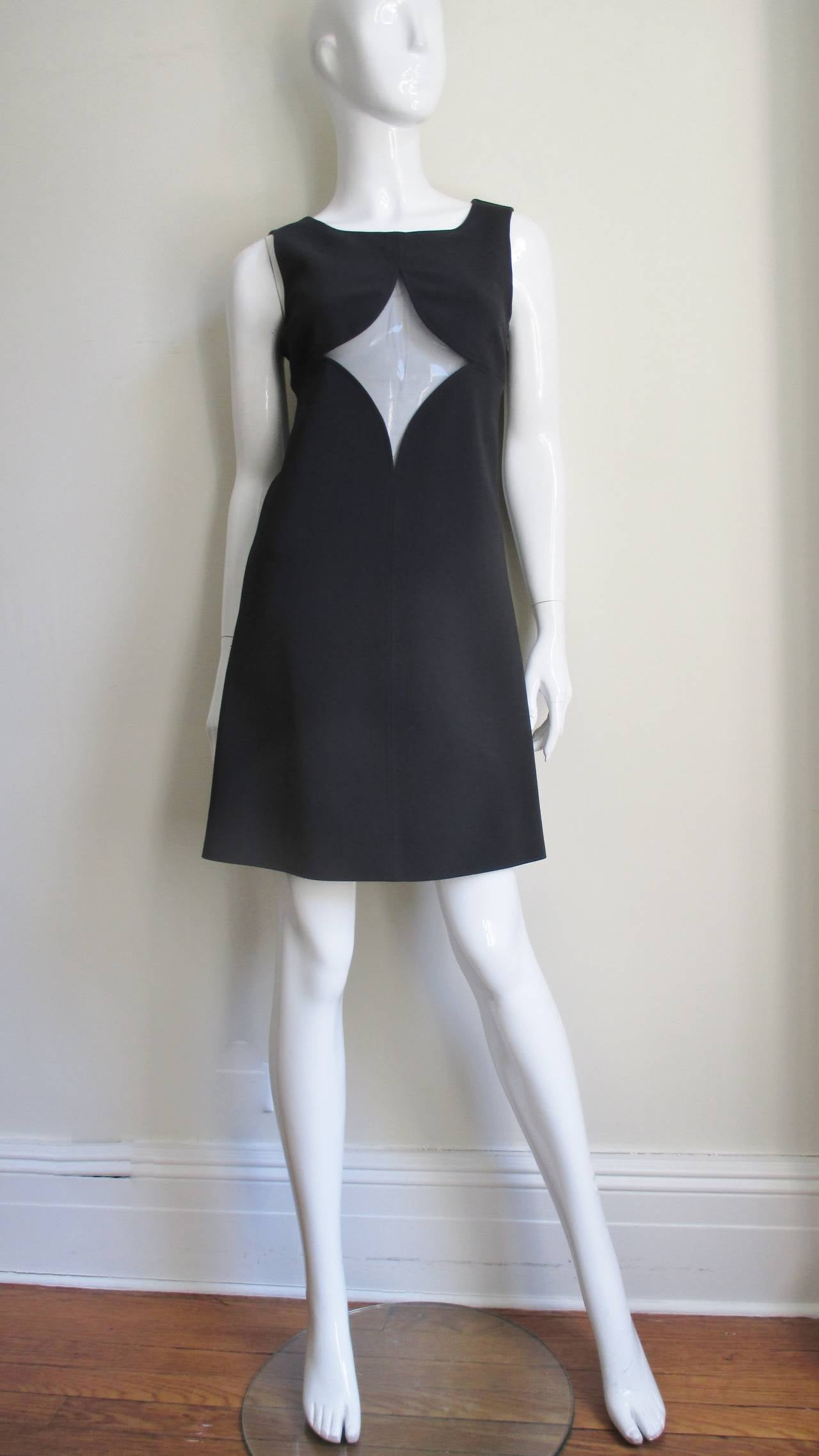 1960s Courreges Cutouts Dress In New never worn Condition For Sale In New York, NY