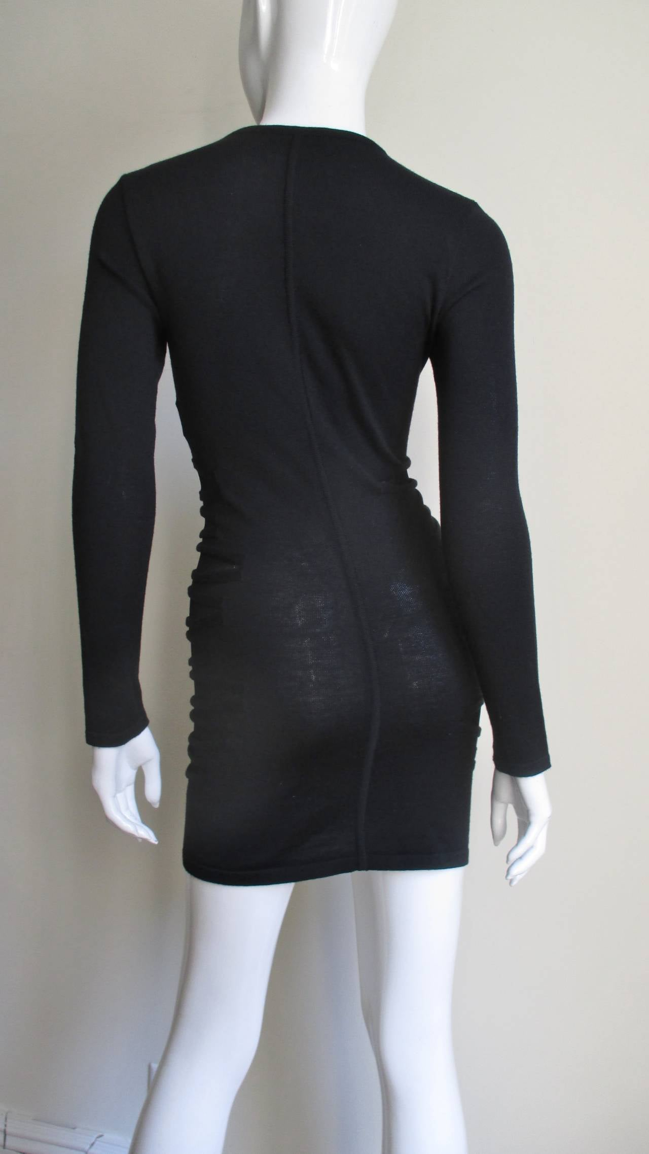 Versace Knit Dress With Mesh Cut-outs For Sale 2