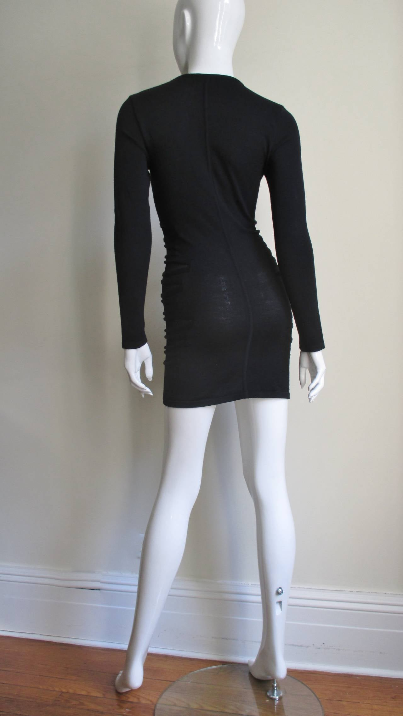 Versace Knit Dress With Mesh Cut-outs For Sale 4
