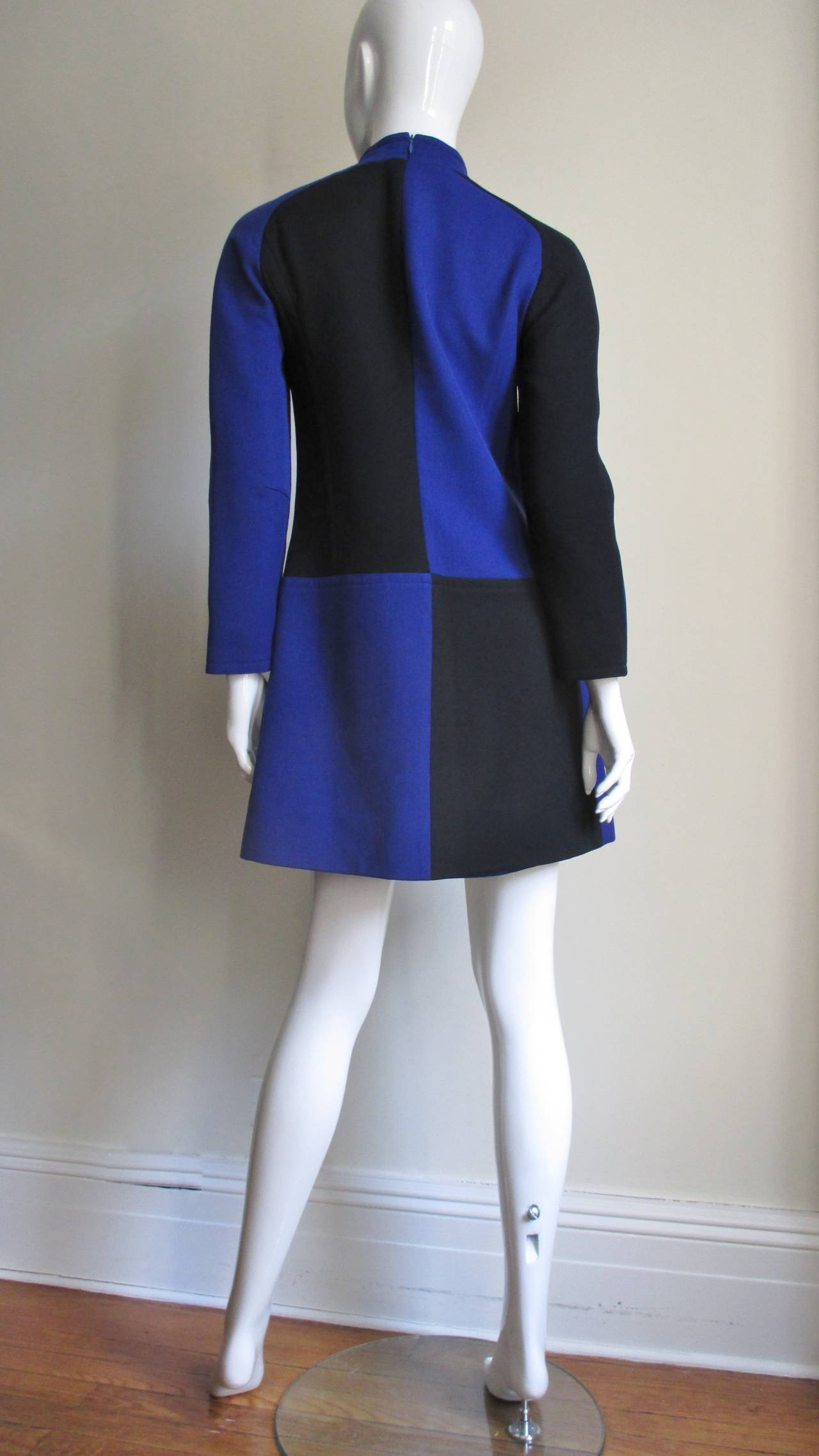 Vintage Courreges Color Block Dress 9