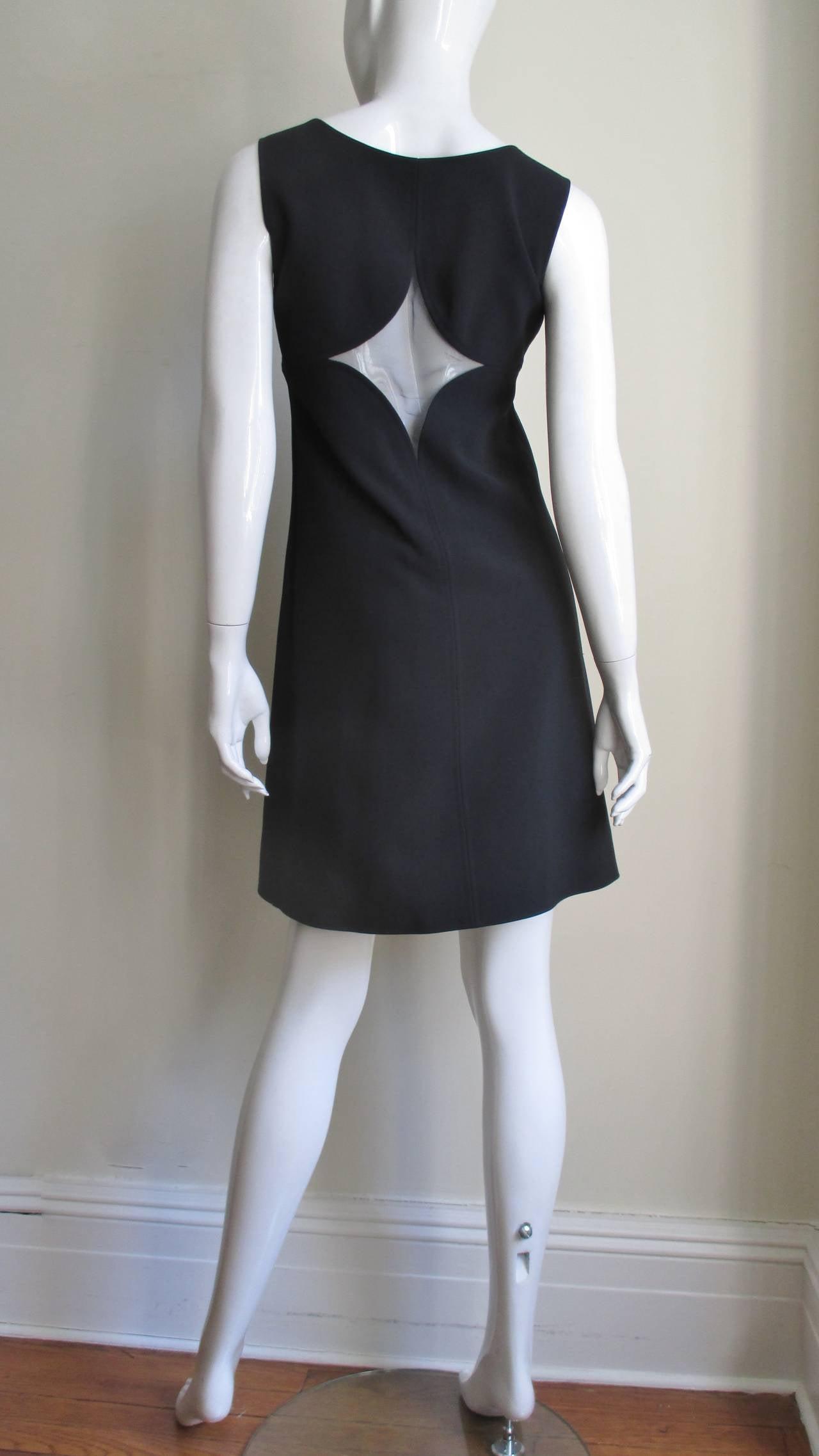 1960s Courreges Cutouts Dress For Sale 3