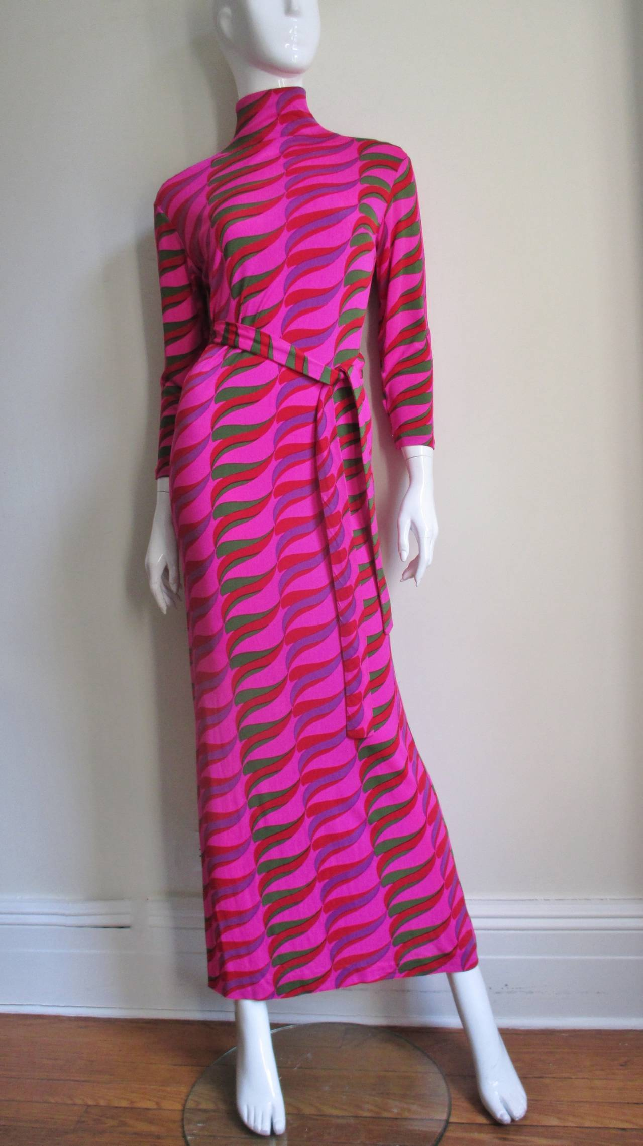 1970's La Mendola Maxi Dress In Good Condition For Sale In New York, NY