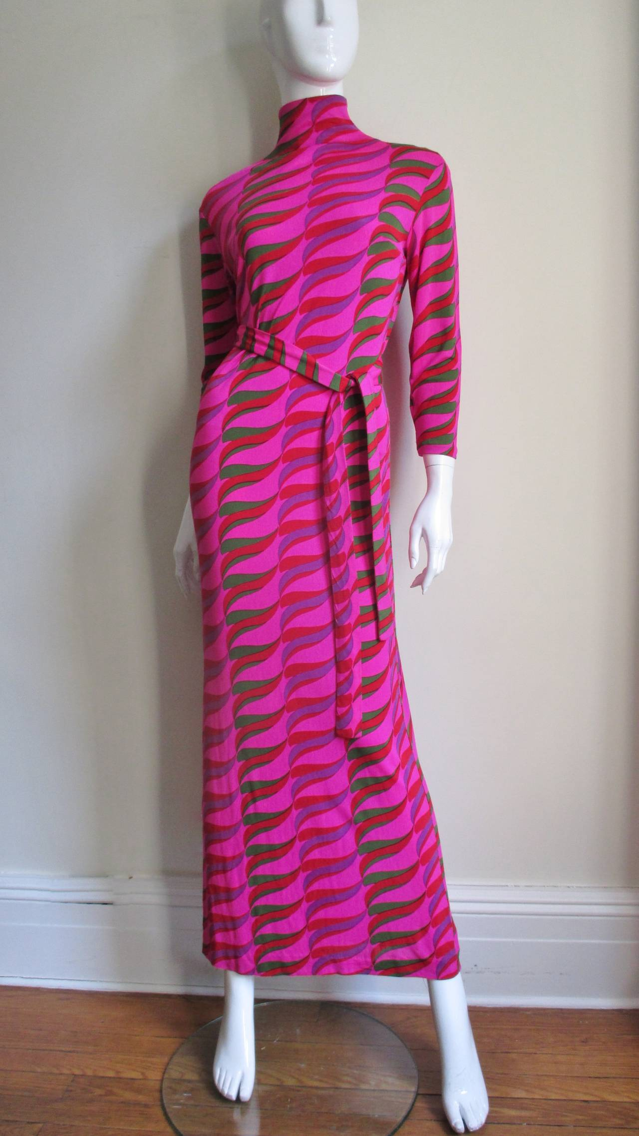 Women's  1970's La Mendola Maxi Dress For Sale