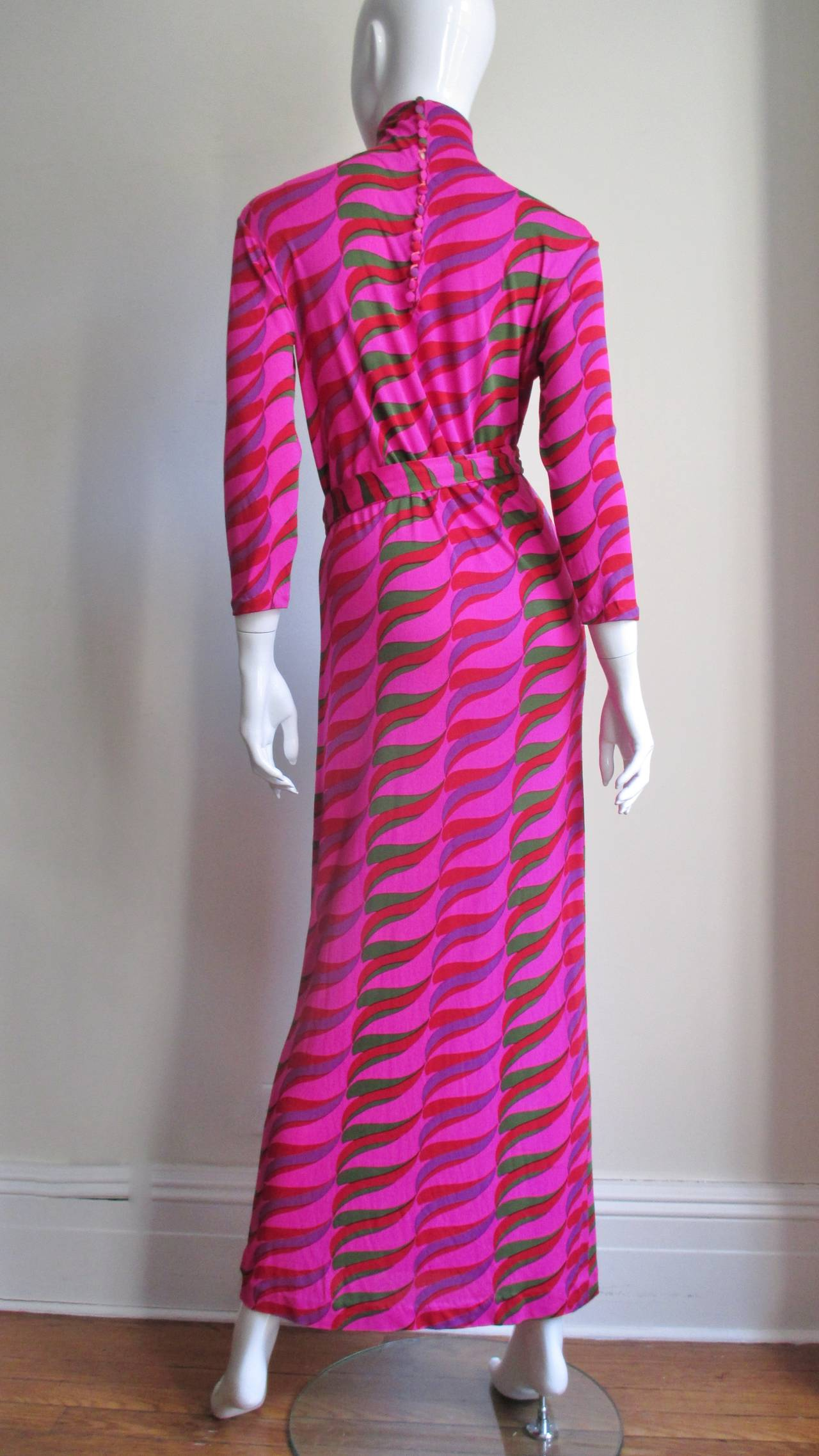 1970's La Mendola Maxi Dress For Sale 3