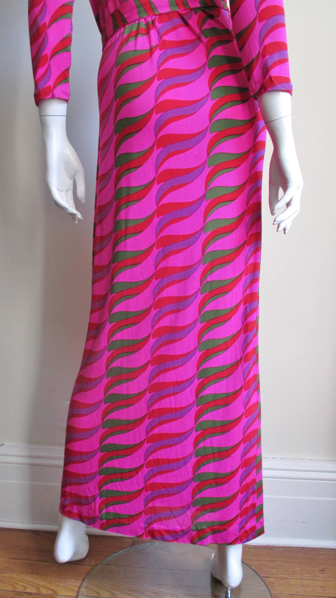 1970's La Mendola Maxi Dress For Sale 2