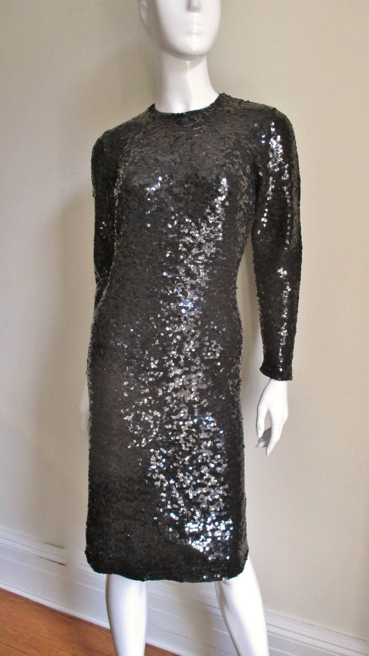 41ed1ef52ab59 1960's Sequin Dress With Detachable Collar and Cuffs at 1stdibs