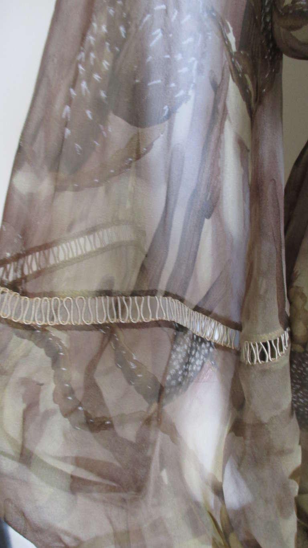 Versace Silk Cactus Print Off Shoulder Dress 6