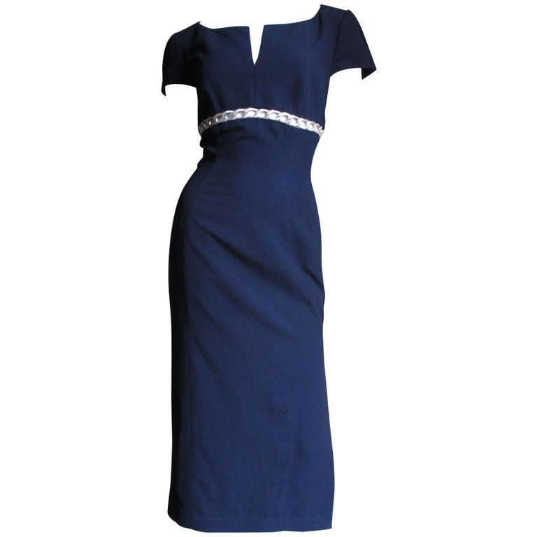 Thierry Mugler Chain Detail Dress 1