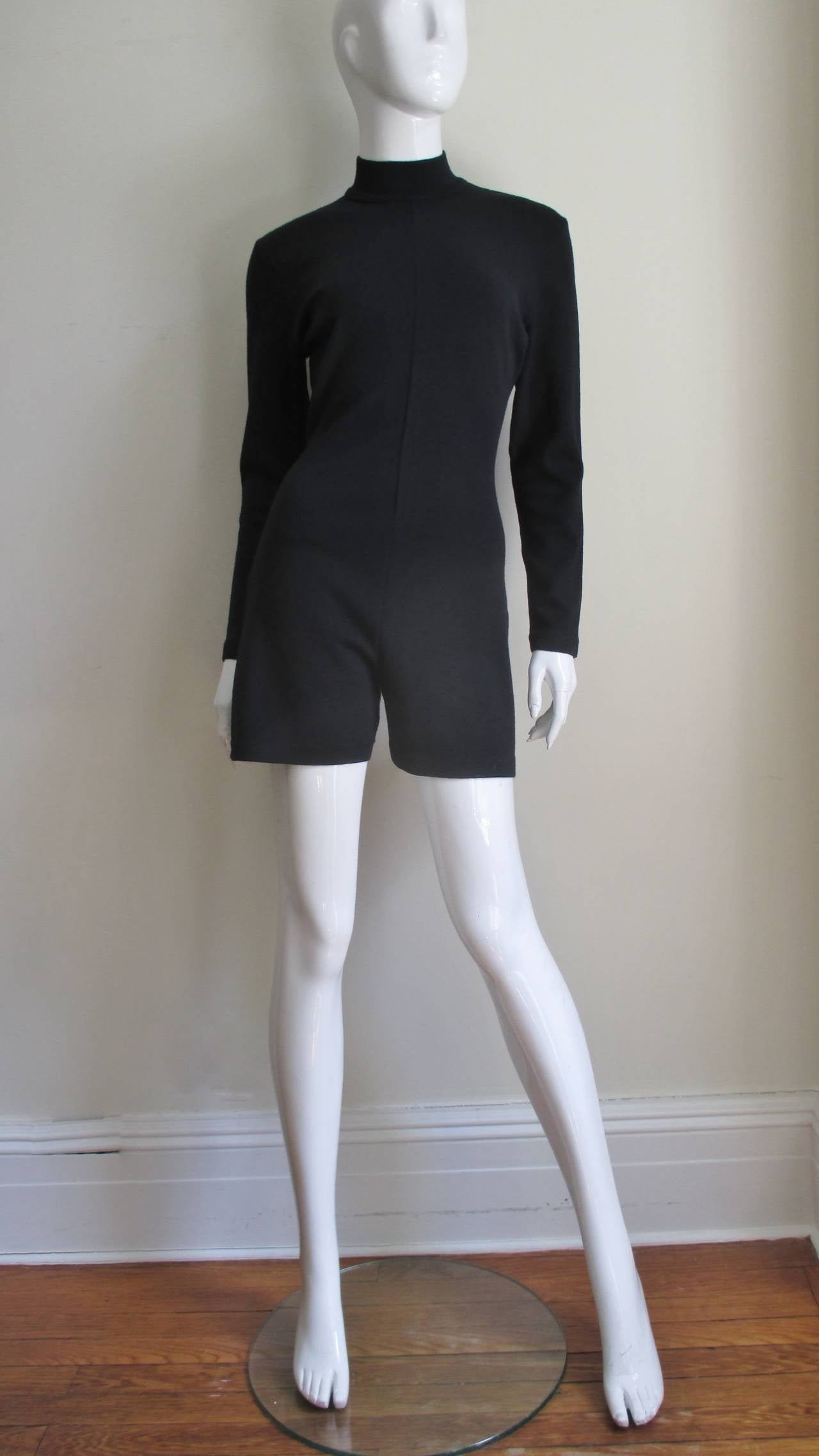 Women's 1980's Claude Montana Shorts Jumpsuit For Sale