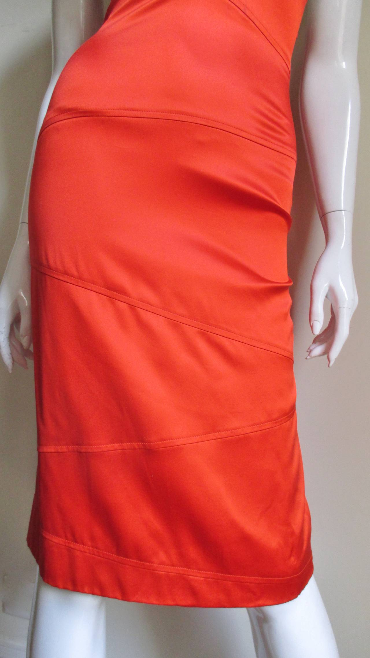 Versace Bodycon Plunge Front Cross Back Dress For Sale 3