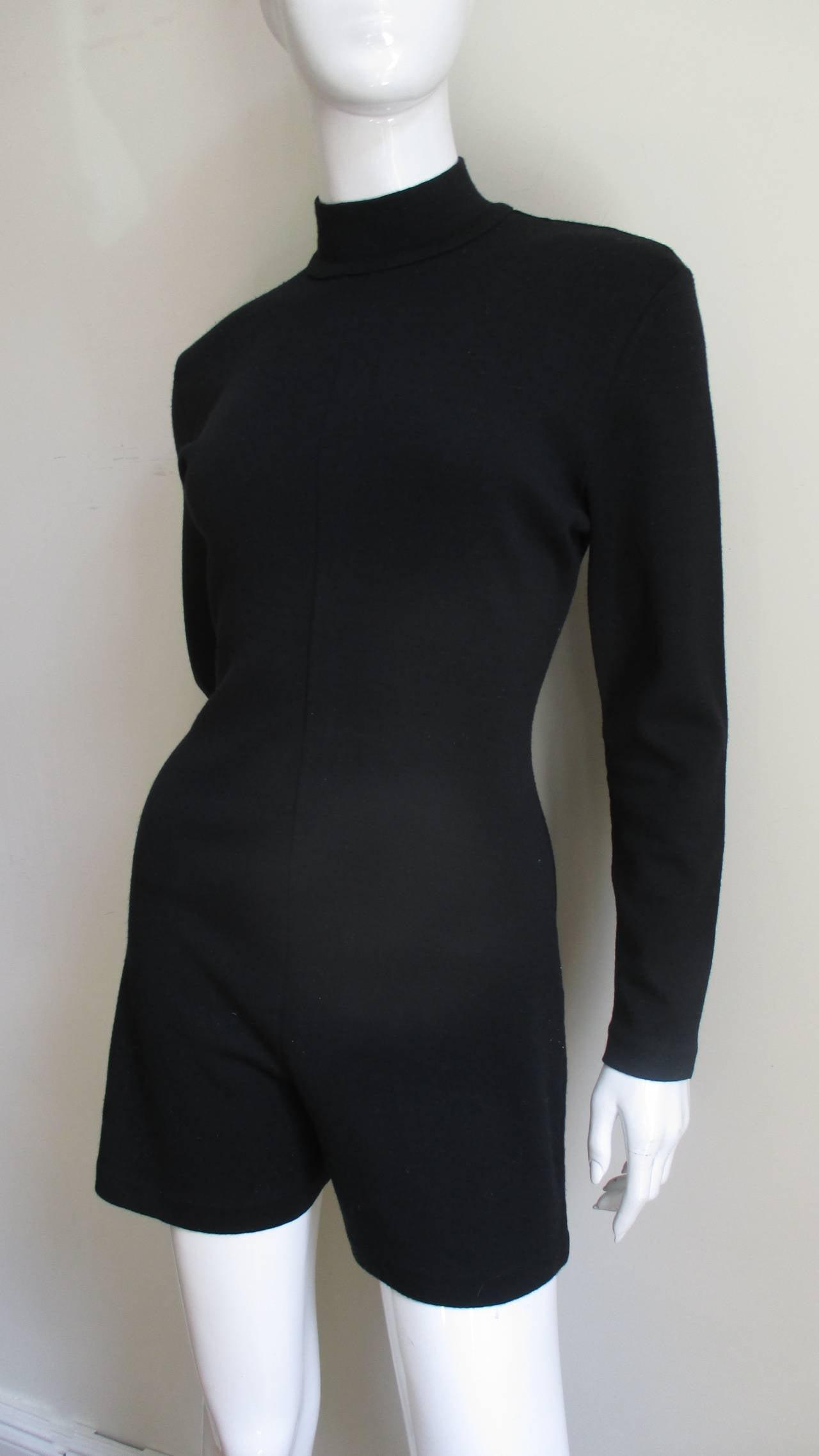 Gray 1980's Claude Montana Shorts Jumpsuit For Sale