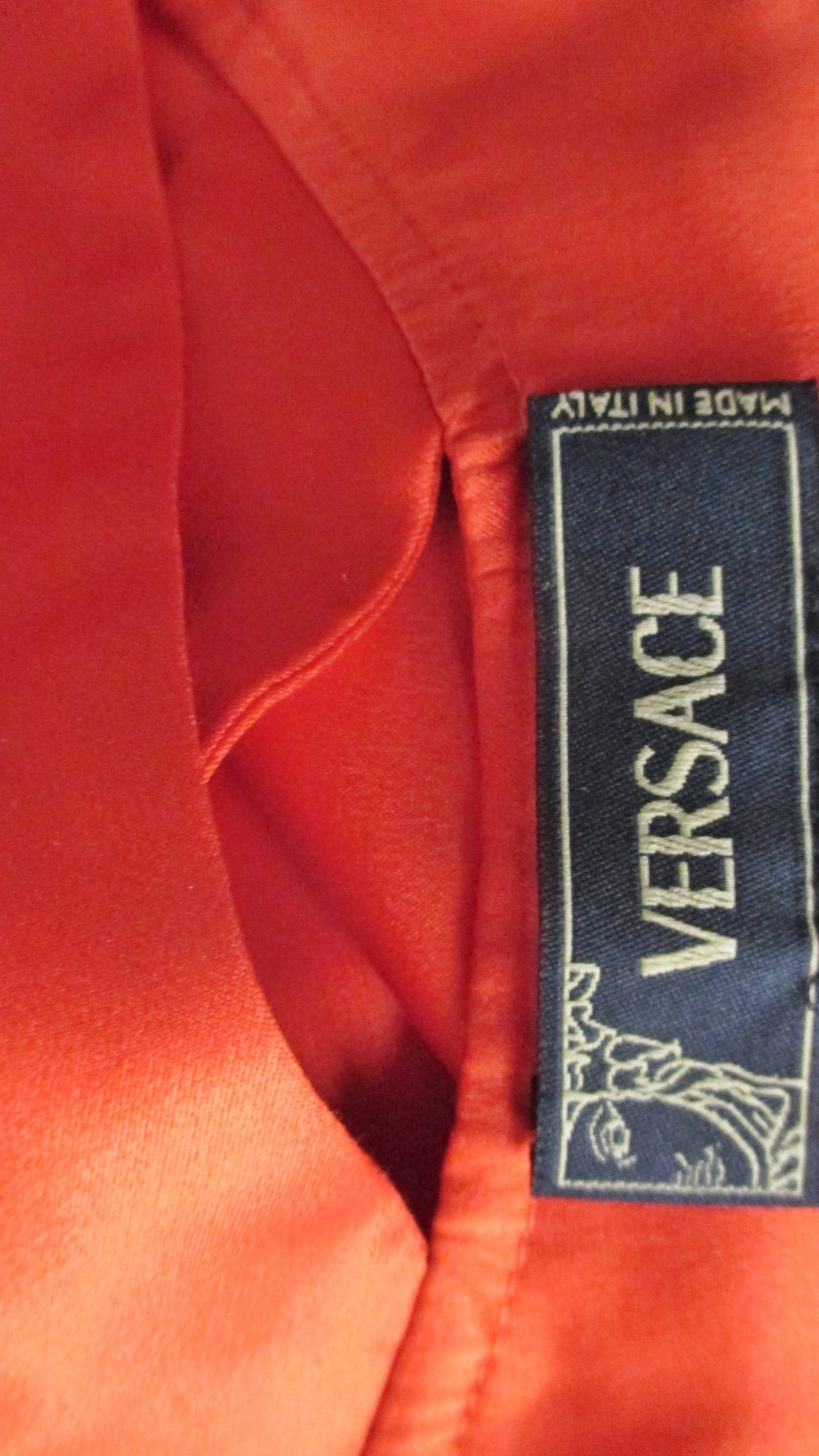 Versace Bodycon Plunge Front Cross Back Dress For Sale 5