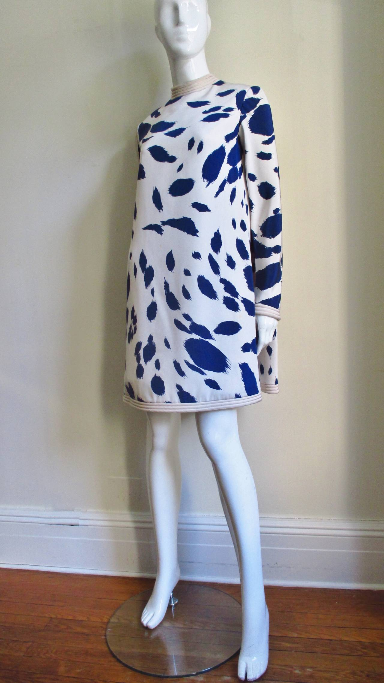 1960's Pierre Cardin Couture Silk Dress With Cape 7