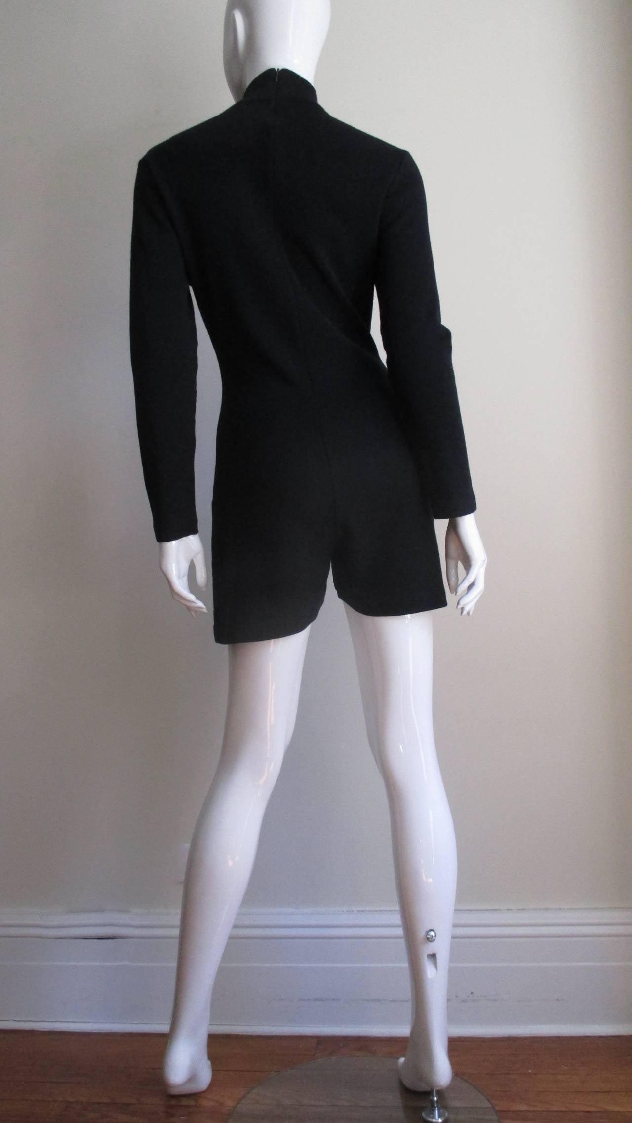 1980's Claude Montana Shorts Jumpsuit For Sale 2