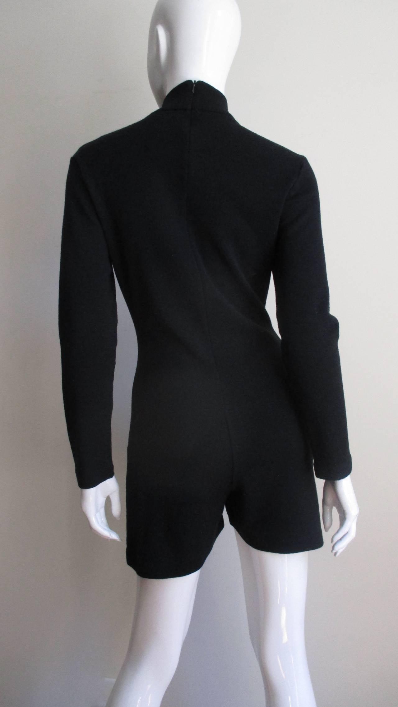 1980's Claude Montana Shorts Jumpsuit For Sale 1