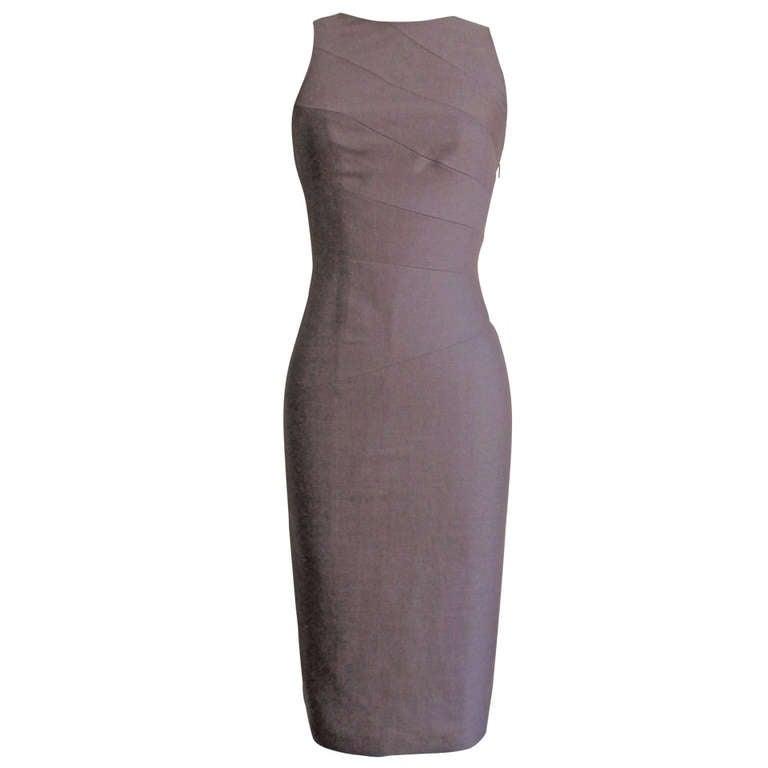 Versace New Spiral Seamed Dress