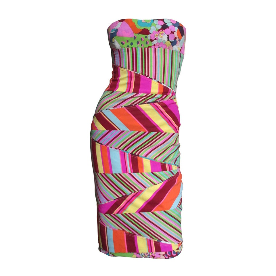 1990s Gianni Versace Bustier Dress