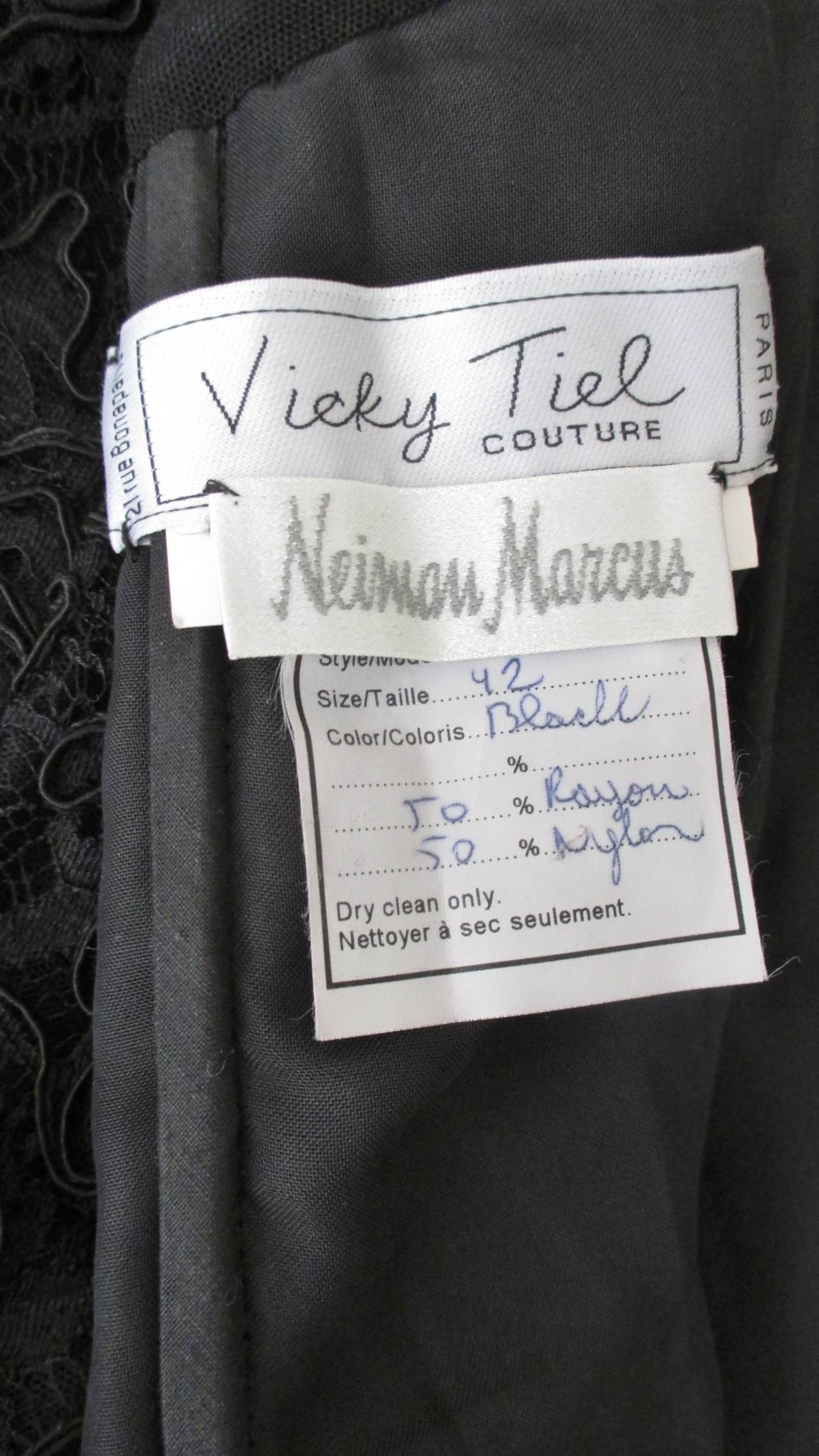 1980s Vicky Tiel Corset Dress For Sale 5