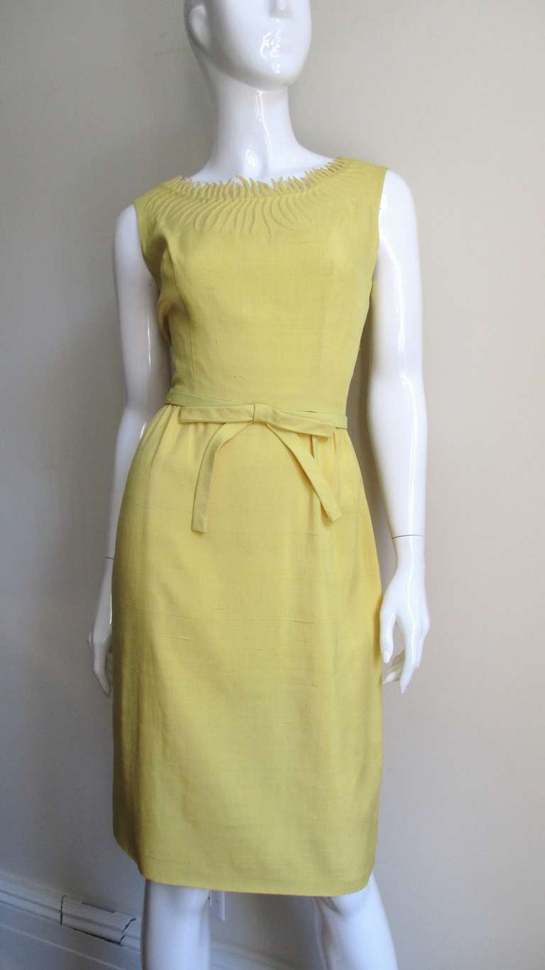 1960 S Trapunto Detailed Wiggle Dress And Cashmere Sweater