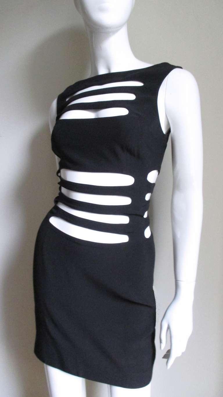 Black 1990s Sophie Sitbon Cage Dress For Sale