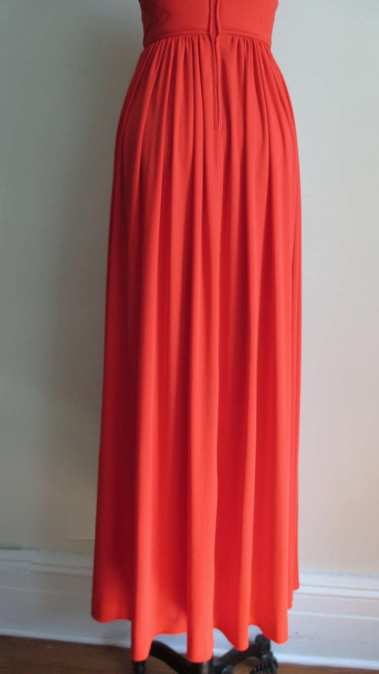 Donald Brooks Trapunto Embroidered Maxi 8