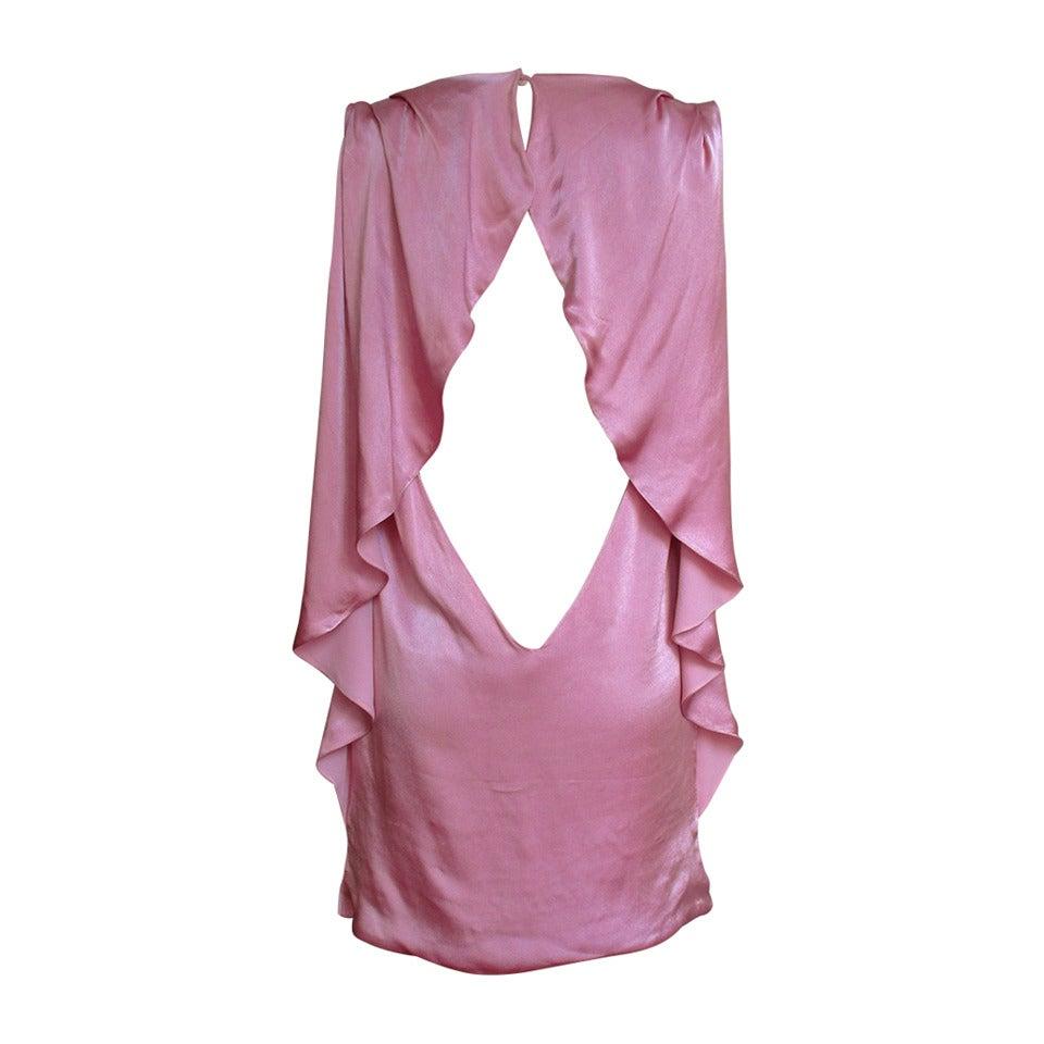 Versace Ruffle Back Silk Dress