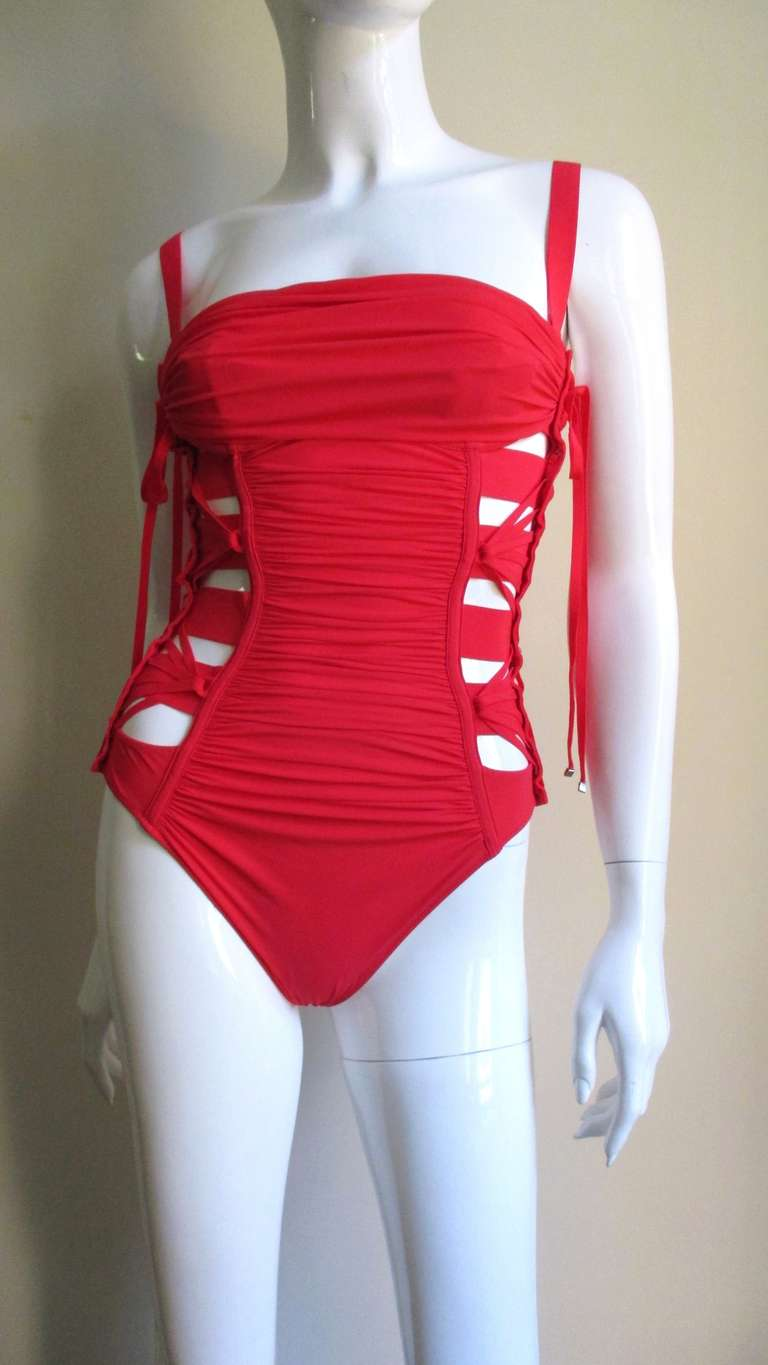 Gaultier Bondage Swimsuit New With Tags 5