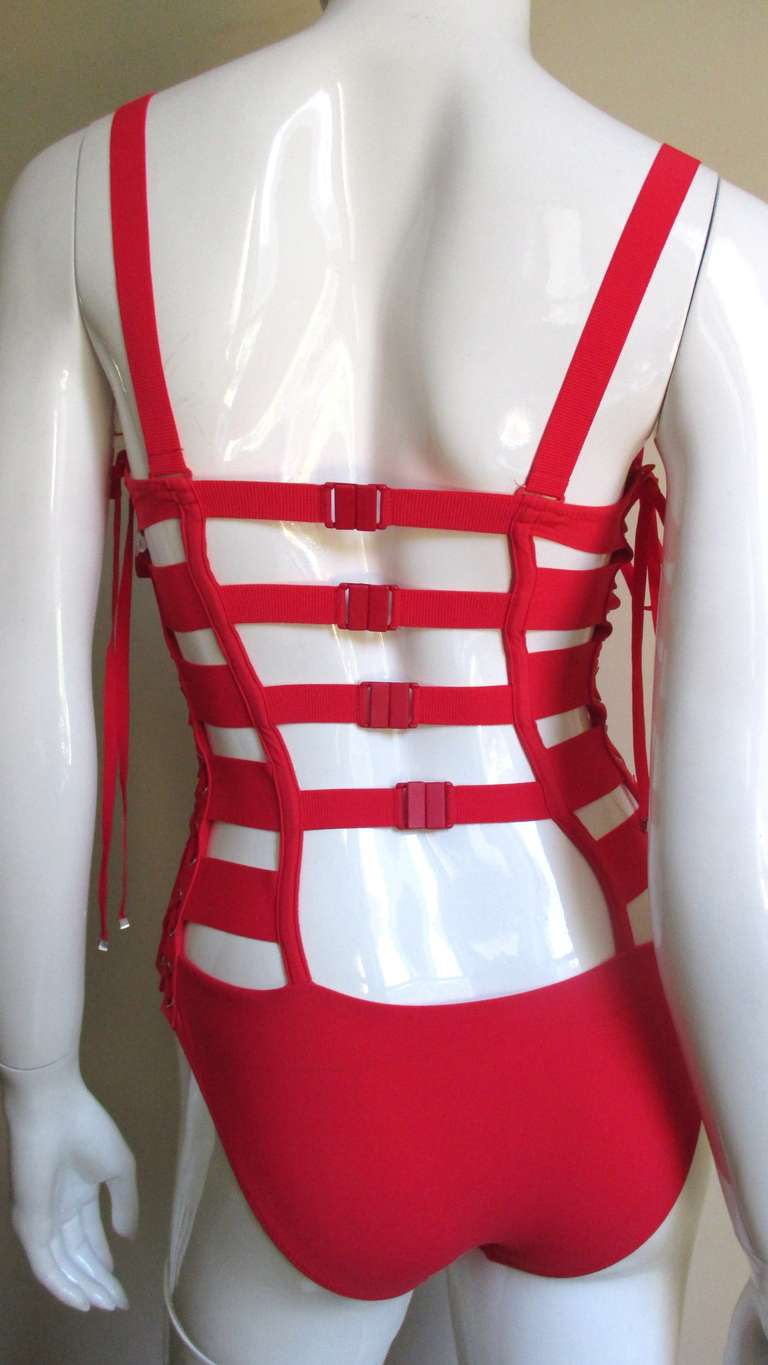 Gaultier Bondage Swimsuit New With Tags For Sale 4
