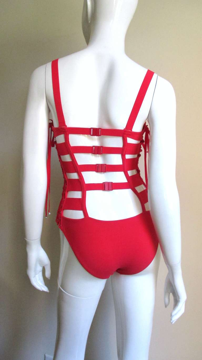 Gaultier Bondage Swimsuit New With Tags For Sale 3