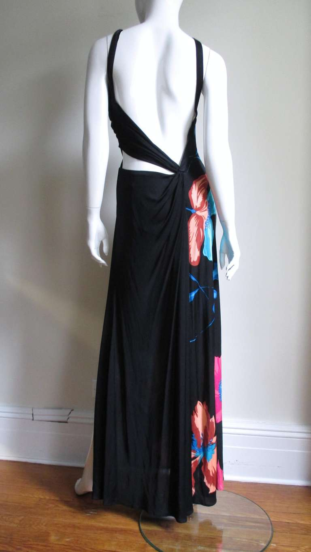 Gorgeous Versace Silk Cutout Backless Maxi At 1stdibs