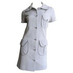 1960's Louis Feraud Lurex Shirtwaist Dress