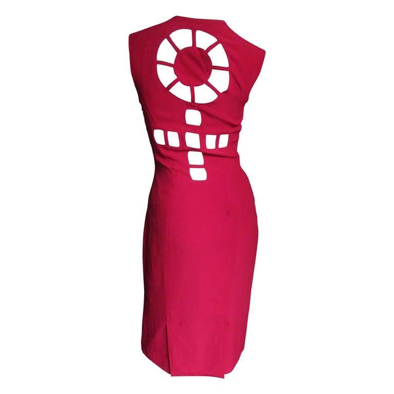1980s Sophie Stibon Cutout Cross & Circle Dress