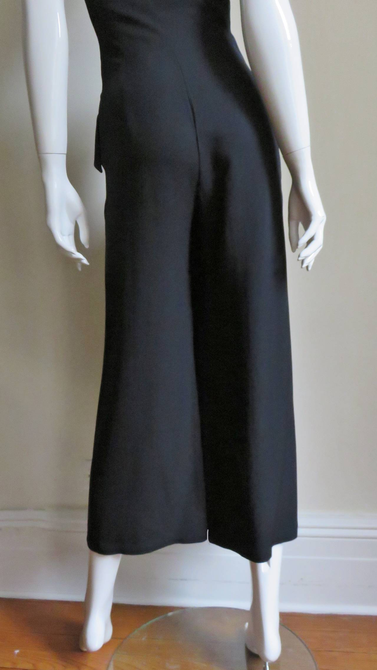 1990s Moschino Halter Tux Jumpsuit  For Sale 3