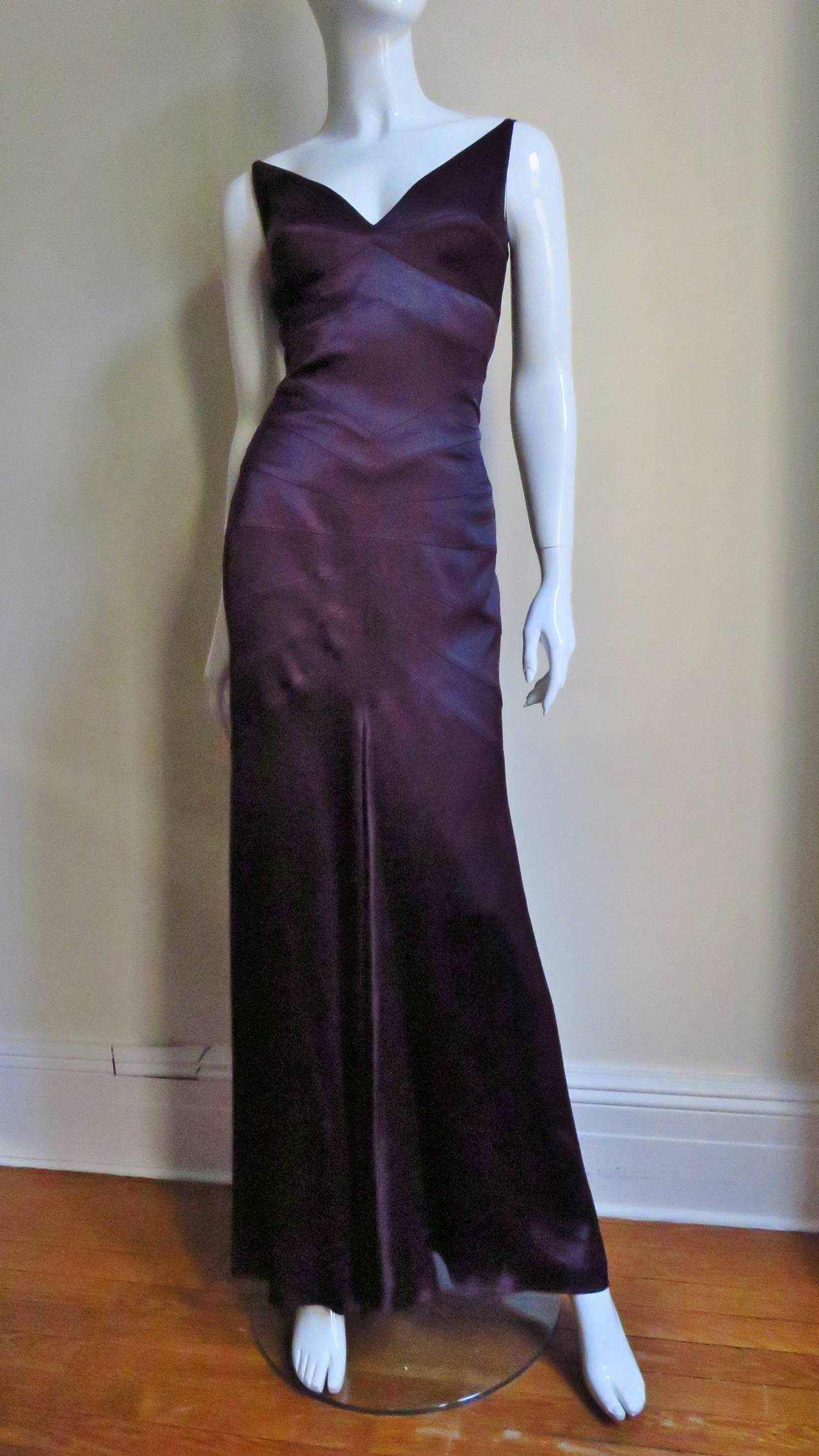 Sophie Sitbon Glamour Gown With Cutouts & Seaming 6