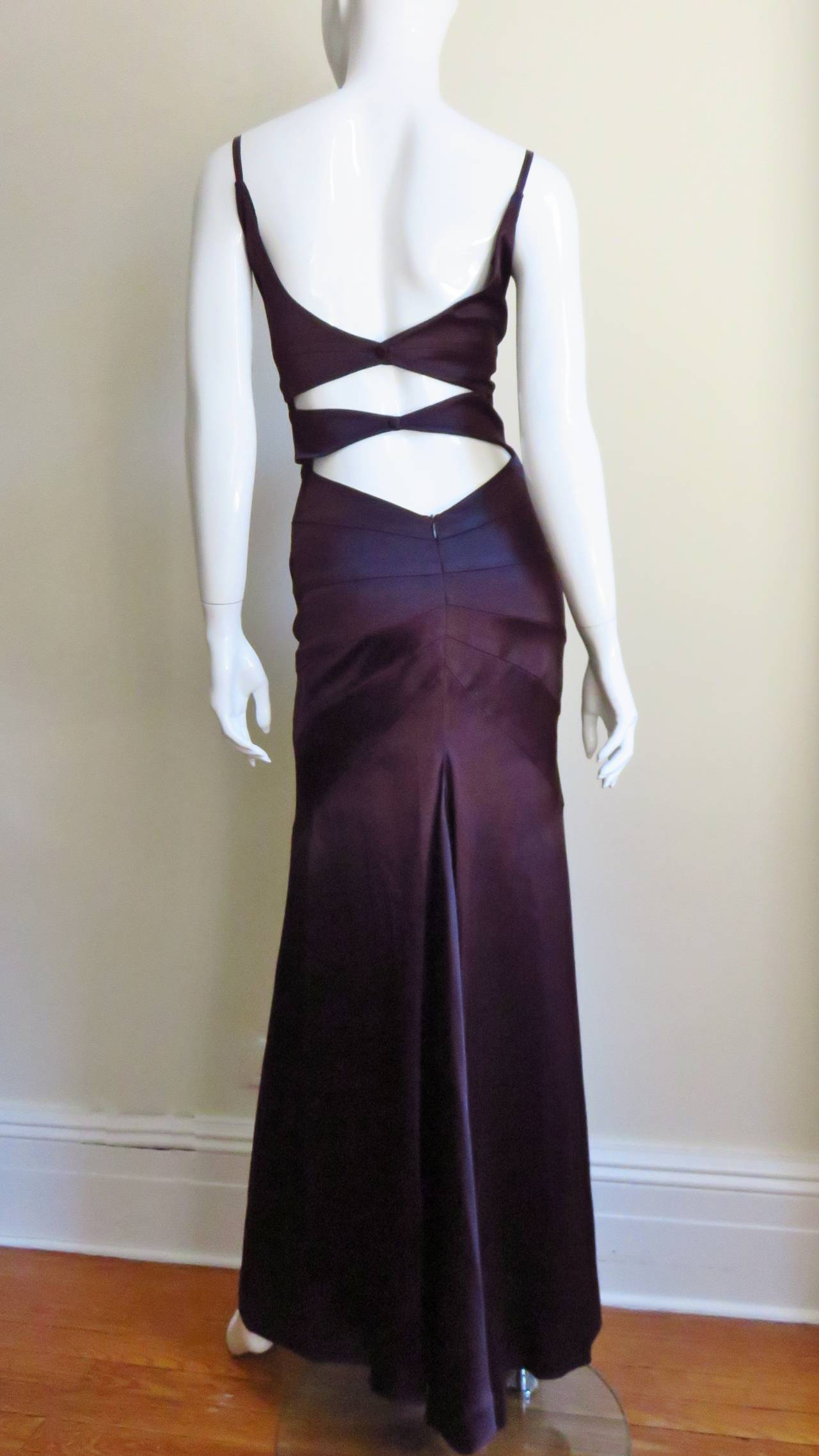 Sophie Sitbon Glamour Gown With Cutouts & Seaming 9