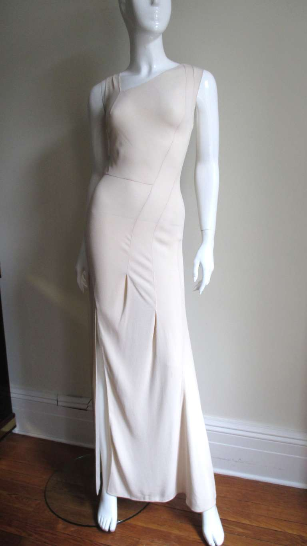 Christian Dior Blush Seam Detail Silk Gown 5