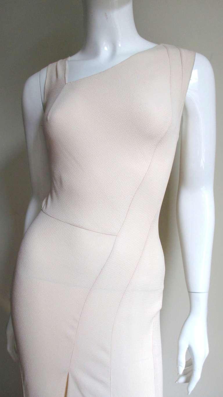 Christian Dior Blush Seam Detail Silk Gown 3
