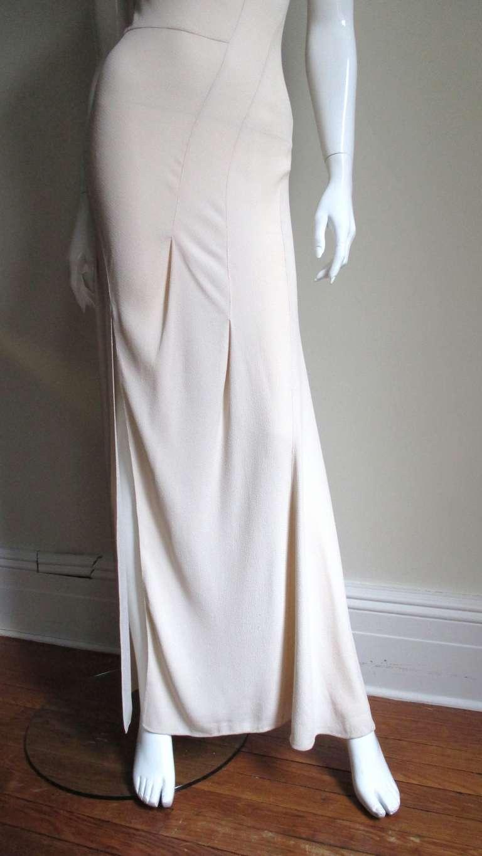 Christian Dior Blush Seam Detail Silk Gown 4