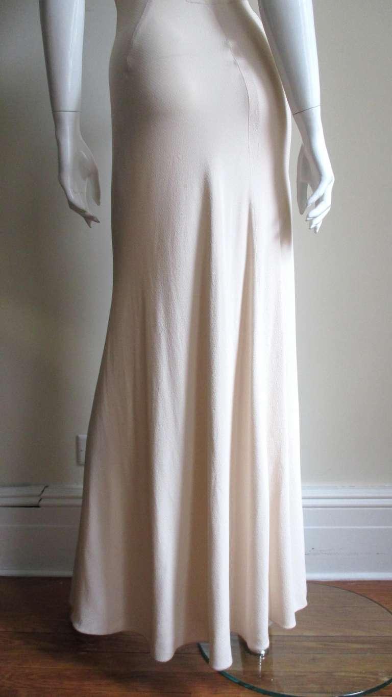 Christian Dior Blush Seam Detail Silk Gown 8